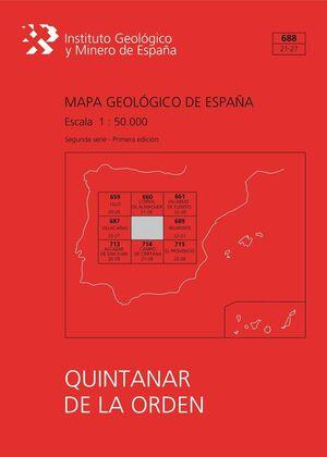 MAPA GEOLÓGICO DE ESPAÑA ESCALA 1:50.000. HOJA 688, QUINTANAR DE LA ORDEN