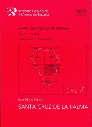SANTA CRUZ DE LA PALMA, 1085-II (70/75): MAPA GEOLÓGICO DE ESPAÑA ESCALA 1:25000