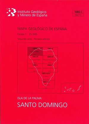 SANTO DOMINGO, 1083-I (69/73): MAPA GEOLÓGICO DE ESPAÑA ESCALA 1:25000 ISLA DE L