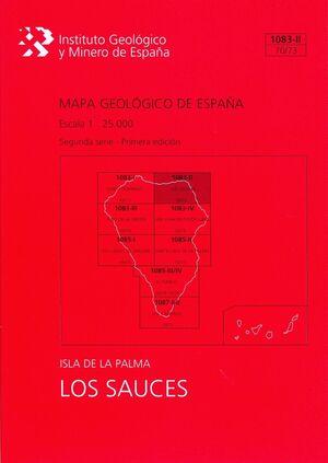 LOS SAUCES, 1083-II (70/73): MAPA GEOLÓGICO DE ESPAÑA ESCALA 1:25000 ISLA DE LA