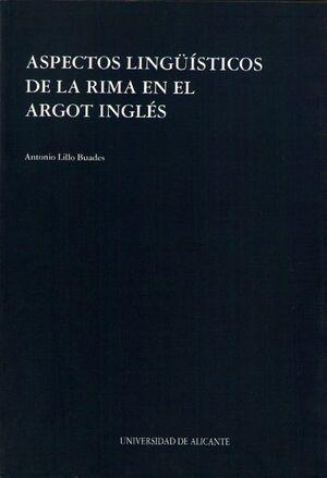 ASPECTOS LINGUISTICOS DE LA RIMA EN EL ARGOT INGLES