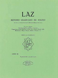 LAZ CON ACOMPAÑAMIENTO - LIBRO III