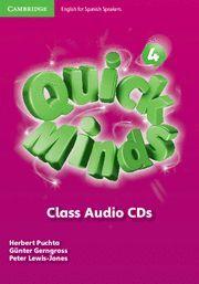 QUICK MINDS LEVEL 4 CLASS AUDIO CDS SPANISH EDITION