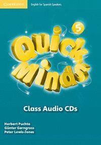 QUICK MINDS LEVEL 5 CLASS AUDIO CDS (5)