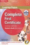 COMPLETE FIRST CERTIFICATE FOR SPANISH SPEAKERS FOR SCHOOLS PACK (STUDENT'S BOOK
