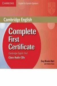 COMPLETE FIRST CERTIFICATE FOR SPANISH SPEAKERS CLASS AUDIO CDS (3)