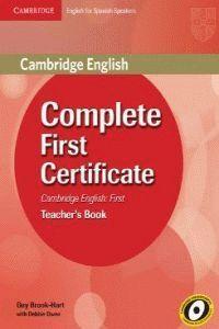 (TCH).(11).COMPLETE FIRST CERTIFICATE (TEACHER)