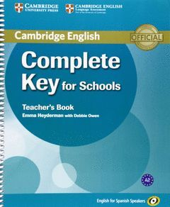COMPLETE KEY FOR SCHOOLS. TCH BOOK