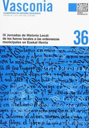 DE LOS FUEROS LOCALES A LAS ORDENANZAS MUNICIPALES EN EUSKAL HERRIA