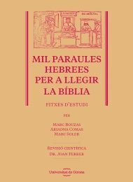 MIL PARAULES HEBREES PER A LLEGIR LA BÍBLIA