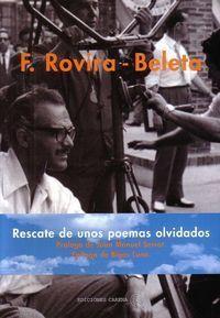 RESCATE DE UNOS POEMAS OLVIDADOS+CD