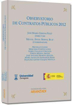 OBSERVATORIO DE LOS CONTRATOS PÚBLICOS 2012
