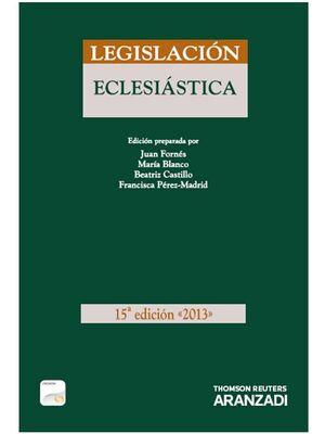 LEGISLACIÓN ECLESIÁSTICA 2013