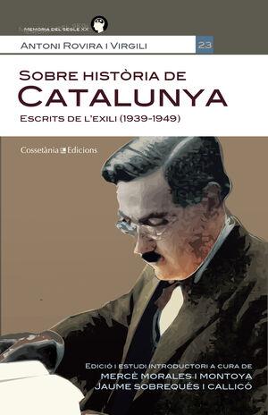 SOBRE HISTORIA DE CATALUNYA