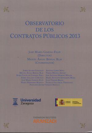 OBERVATORIO DE LOS CONTRATOS PÚBLICOS 2013 (PAPEL)