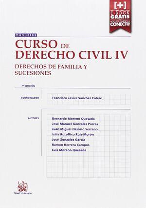 CURSO DE DERECHO CIVIL IV