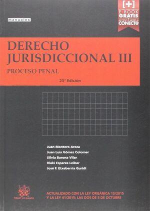 DERECHO JURISDICCIONAL III PROCESO PENAL