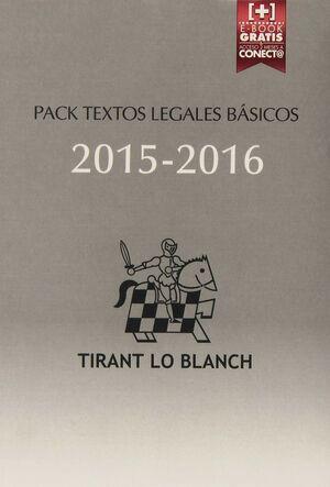 PACK TEXTOS LEGALES BASICOS 2015-2016