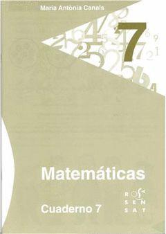 MATEMÁTICAS. CUADERNO 7