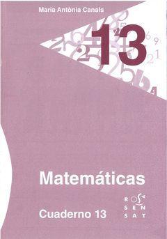 MATEMÁTICAS. CUADERNO 13