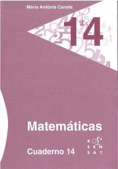 MATEMÁTICAS. CUADERNO 14