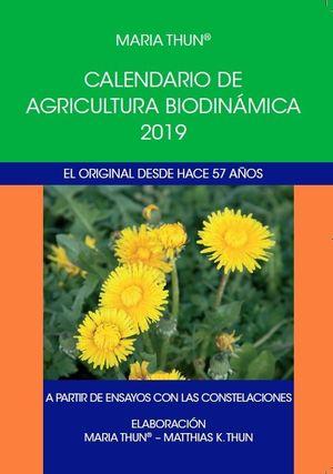 2019 CALENDARIO DE AGRICULTURA BIODINAMICA
