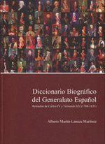 DICCIONARIO BIOGRAFICO DEL GENERALATO ESPAÑOL