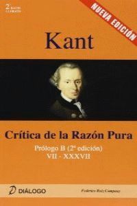 KANT CRITICA DE LA RAZON PURA