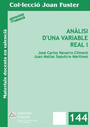 ANÀLISI D'UNA VARIABLE REAL I