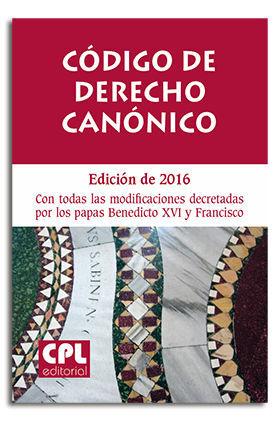 CODIGO DERECHO CANONICO (CPL) 2016