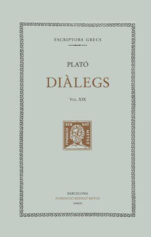 DIÀLEGS VOL. XIX (DOBLE TEXT/TELA)
