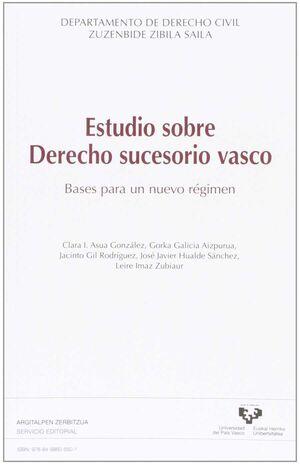 ESTUDIOS SOBRE DERECHO SUCESORIO VASCO