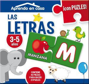 PUZZLE EDUCATIVO 2 PIEZAS LETRAS