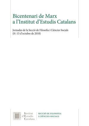 BICENTENARI DE MARX A L'INSTITUT D'ESTUDIS CATALANS