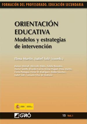 ORIENTACION EDUCATIVA. MODELOS Y ESTRATEGIAS DE INTERVENCION-15.VOL I.GRAO