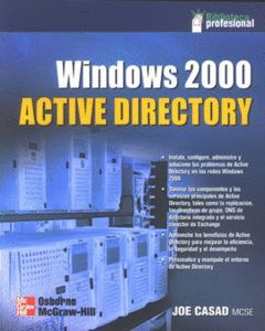 WINDOWS 2000 ACTIVE DIRECTORY.BIBL PROGR