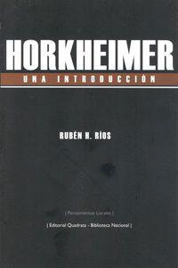 HORKHEIMER UNA INTRODUCCIÓN